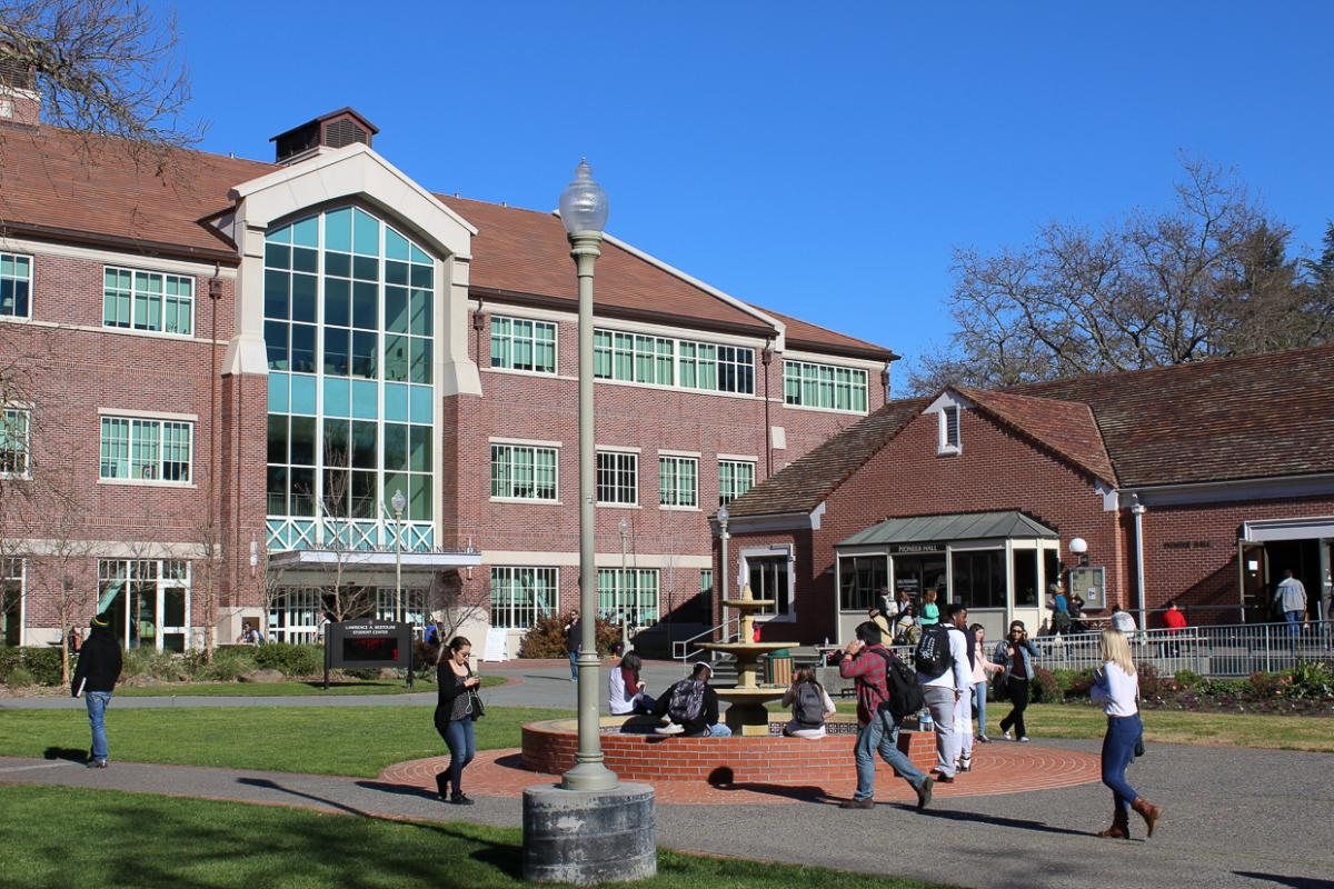 Photo of Bertolini Quad on SRJC Santa Rosa campus
